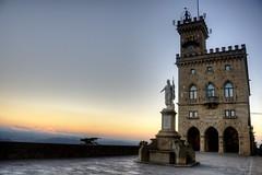 Palazzo Pubblico. (socrates197577) Tags: sunset night europa tramonto sanmarino clear piazza hdr photomatix mygearandme mygearandmepremium infinitexposure