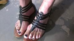 IMAG1490 (2moshoes) Tags: man black male men feet fun him back toes toe legs sandals polish thong strap nailpolish sandal backstrap