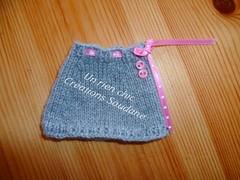 Blythe ooak outfit (soudane) Tags: pink grey dolls top skirt jacket blythe fashiondolls soudane outfitsfordolls clothesfordolls creationssoudane