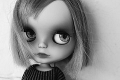 Farewell my dear Willow (littlewillers) Tags: blackandwhite eyes doll ooak plastic delight blythe custom simply gaze takara littlewillers