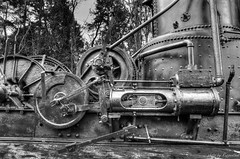 Tyee Steam Donkey (R J Ruppenthal) Tags: old canada vancouver drums bc britishcolumbia steel engine logging cable historic steam vancouverisland sled boiler yarder steamdonkey vision:outdoor=0937 tyeemachinerycompany
