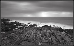 Coastline (spodzone) Tags: longexposure sea blackandwhite panorama motion art nature water lines weather clouds composition manipulated dark lens landscape scotland warm dynamic emotion empty horizon hard dramatic gimp wideangle places equipment motionblur filter vista conflict dreamy isolation flowing melancholy awe striking fleeting distance simple toned solitary platinum portpatrick rugged elegance dumfriesandgalloway hugin painteffects timescale nearfar rockwater tonemapped landwater skyearth hardsoft nd1000 characterful enfuse rawtherapee timeflows digitalred meaningemptiness luminancehdr sony1855 digitalbloom motionstationary digitalgradnd digitallowpass timefulness