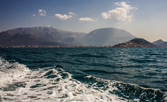 Sea and mountains (raymond_zoller) Tags: sea mountains water bar eau meer wasser wake places berge woda montenegro adria mittelmeer   marenostrum crnagora kielwasser