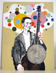 Banjito (neppanen) Tags: boy art painting acrylic banjo maalaus taide kuvataide discounterintelligence akryyli mdfboard sampen