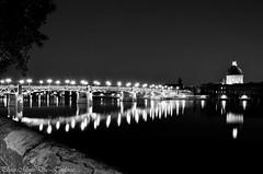 Toulouse by night - Bridge Saint-Pierre (ducnguyen87) Tags: longexposure bridge france building water night automne river landscape nikon eau memory pont manual soire toulouse jpeg garonne septembre nightexposure midipyrnes saintpierre teamnikon apsc toulousain d7000