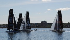 Flaute (   flickrsprotte  ) Tags: nikon meer wasser august regatta kiel schleswigholstein segel kielerfrde segelsport katamarane gc32sailingcupkiel