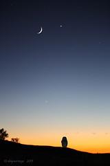 Between the Earth and the Moon (slsjourneys) Tags: sunset hawaii bigisland