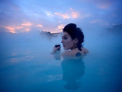 Sunset and wine, Blue Lagoon (rob cheatley) Tags: iceland reykjavik bluelagoon waterproof waterproofcamera olympustg3