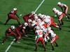 Nebraska vs Carolina (Sarah Constancia Photography) Tags: capital one bowl nebraska huskers carolina football tackle helmet orlando