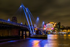 Hungerford bridge - London (Bouhsina Photography) Tags: pont suspendu lumière bleue londres angleterre hungerford waterloo bouhsina bouhsinaphotography long exposition 2017 canon 5diii ef2470 reflection bridge