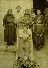 In Repose (~ Lone Wadi ~) Tags: death coffin casket corpse dead deceased outdoors funeral wake hispanic latino mourners retro 1910s unknown grief