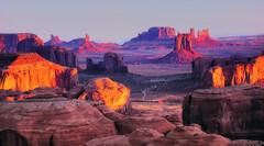 Monument Valley Sunset - D800-2-28-17DSC_8151_20529 (Cap001 - Dan) Tags: red monumentvalley sunset landscape hdr platinumheartaward