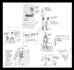 alleywaysketch (Katrina Lam) Tags: alleyway backalleys clotheslines dryingracks sketches