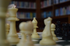 Playing in the school library (Jean Latteur) Tags: d3300 nikon 18105 chess library bokeh
