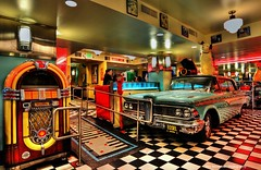 Edsel and Wurlitzer in Lori's Diner on Sutter and Powell (Rex Montalban Photography) Tags: rexmontalbanphotography sanfrancisco california lorisdiner edsel wurlitzer breakfast