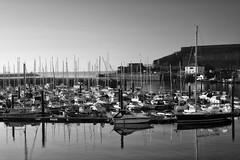 Barbican Marina (Foto John) Tags: leicam leicam240 leica leicamtyp240 rangefinder summicronm50mmƒ2iv blackwhite blackandwhite blackandwhitethatsright monochrome landscape harbour marina plymouth uk