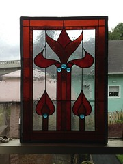 Vintage Stained Glass Window (blackthorne56) Tags: finds goodwill