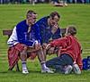 Wrestlers take a break (FotoFling Scotland) Tags: hairy scotland kilt legs games trainers event tartan highlandgames upkilt robertclark