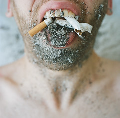 Love+Hate (Mimyo Foto) Tags: portrait love mouth smoking hate ash lust cigarettes disgust