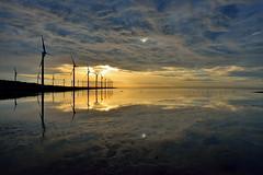 DSC_1841~1(Sunset at Gao-mei Wetland ) (michaeliao27) Tags: sunset cloud reflection water glow   wetland  gaomei
