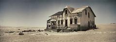 Abandoned house (hapePHOTOGRAPHIX) Tags: hapephotographix hasselblad xpan africa afrika namibia 516nam 516xpn wüste desert desierto panorama geisterstadt ghosttown despoblado ciudadfantasma kolmanskop kolmannskuppe snapseed fav10 dsplyys