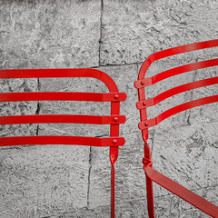 Stand by me (Aleka Iakovidou) Tags: red lines square chairs minimal 2colors hintofcolor