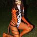 Hot Kandi Body painting Tiger