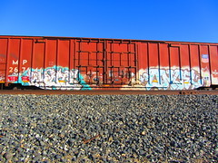 Kwote Once (VDub (o\I/o)) Tags: california train graffiti trains once boxcar graff freight boxcars trackside freights benching kwote