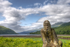 Arrochar Erosion_2970HDR_By Phil Ovens (Pitcher_Phil) Tags: wood trees sky sculpture mountains rotting clouds scotland wooden pattern timber hills erosion foliage textures grasses colourful argyle treeline hdr lochlomond decaying eroded arrochar lochlong