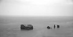 Four and a Baby (monsters.monsters) Tags: ocean travel sea vacation blackandwhite bw tourism portugal water beautiful beauty island mar rocks atlantic atlanticocean azores saomiguel archipielago thegreenisland