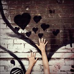 reach out (_wysiwyg_) Tags: wall square hearts graffiti lomo hands arms tags brickwall mur mains carr bras reachout coeurs abandonedfactory murdebriques usineabandonne didiertresgots