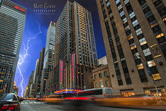 Lightning Over Radio City (Matt Granz Photography) Tags: city summer newyork night clouds manhattan stormy thunderstorm lightning radiocitymusichall taxicabs mattgranz mattgranzzenfoliocom
