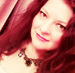 Going Out (Bluebird Becca) Tags: red portrait woman me self hair head redhead selfie lovethatvintagejewelry