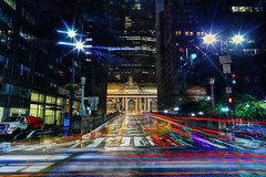 Grand Central Station at Night (Anatoleya) Tags: city nyc longexposure urban newyork night traffic manhattan grandcentralstation canon5d 24mm grandcentral hdr markiii 5d3 anatoleya f14lprime