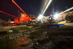 Swanage Coastal Laser Defence Station, Isle Of Purbeck (flatworldsedge) Tags: longexposure light station boat starwars fishing zoom trails lifeboat coastal laser swanage beams defence trawler lazer zap