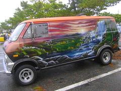 1974 Ford Econoline 100 Splattergraphics Tags Landscape Mural Van Custom Carshow