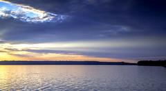 The Beacon - 103013-175324-RGA (Glenn Anderson.) Tags: light sunset lake water sunshine clouds pond beam rays beacon d600