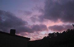 16/09/2013 (♪ulia) Tags: sunset color colorful chimenea house silhouette chimney summer autumn september october clouds cloudy vegetation galicia orange pink nube nublado puesta de sol black serie series project sun down beautiful nature sky blue earth spain europe canon eos 400d teenager