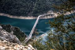 Piva Lakes (pbr42) Tags: road bridge lake water h2o hdr montenegro piva pivalake