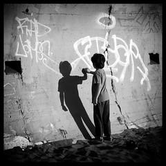 young artist (eb78) Tags: sf sanfrancisco california ca blackandwhite bw monochrome graffiti oceanbeach grayscale greyscale
