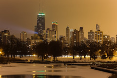 Slightly chilled (aerojad) Tags: christmas winter chicago skyline night bestof lincolnpark chicagoist