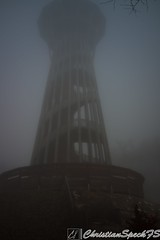 La tour de Sauvabelin (christian speck) Tags: wood tower fog night forest 35mm outdoors schweiz switzerland scary tour suisse sony evil lausanne creepy nuit foret sauvabelin rx1 brouyard