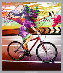 Goo  BIKEFRIENDLY IMAGINATION BOOK 2013 (FOTOS-GRAFOS) Tags: fashion bike bicicleta demon devil ilustrador personaje demonio illustracion