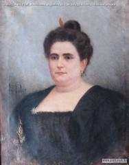 Giulio Cesare Prati Nobildonna argentina olio su tela 59x70cm Collezione privata