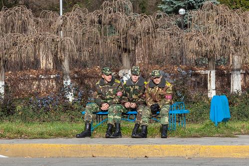 Transnistrian Soldiers - Pobedi Park