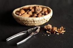 Cracked Walnut (717Images) Tags: stilllife broken basket walnut nuts nutcracker nut cracked