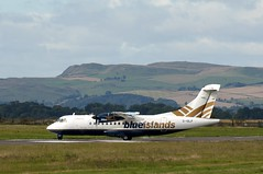 """Blue Islands ATR 42-500 """"G-ISLF"""" (TayportTT) Tags: uk summer scotland flying airport warm riverside rivertay fife dundee aircraft aviation air flight special airline heat jersey airlines runway guernsey airliner charter dnd atr 42500 atr42500 blueislands egpn dundeeriverside gislf"""