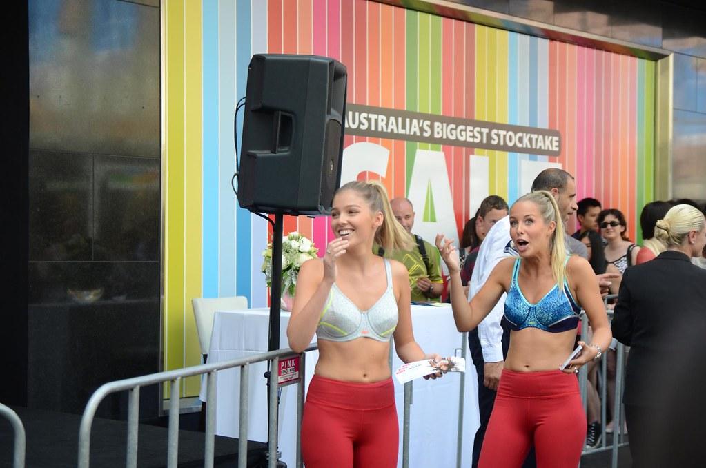 3b538157290fe Two models share a joke in Serena Williams  Berlei sports bras (avlxyz) Tags