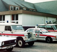Northern Constabulary vehicles at Aviemore 1982