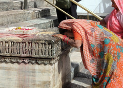 Temple Mourning (cowyeow) Tags: street travel woman india stairs composition temple worship mourning indian traditional faith religion crying culture belief cry jain rajasthan mourn udaipur jainism
